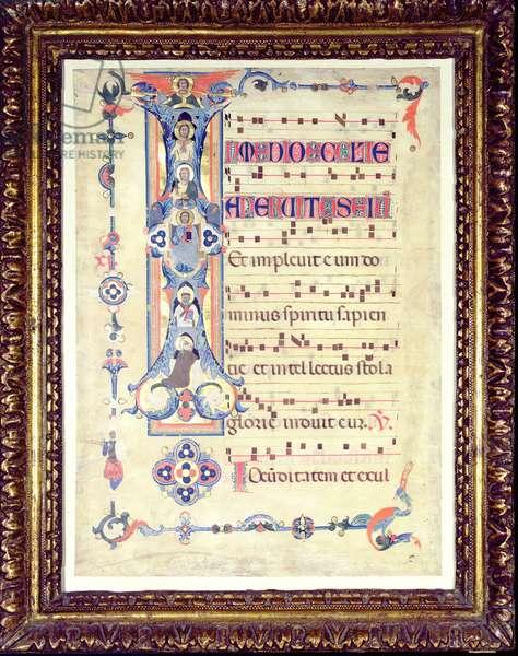 Gradual, featuring historiated initial 'I' depicting Saint John the Evangelist, c.1315 (vellum)
