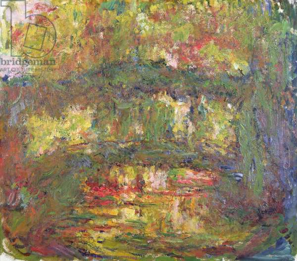 The Japanese Bridge at Giverny, 1918-24 (oil on canvas)