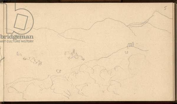 Valle Buona, north of Bordighera, c.1884 (pencil on paper)