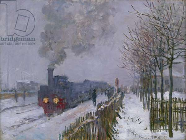 Train in the Snow or The Locomotive, 1875 (oil on canvas)