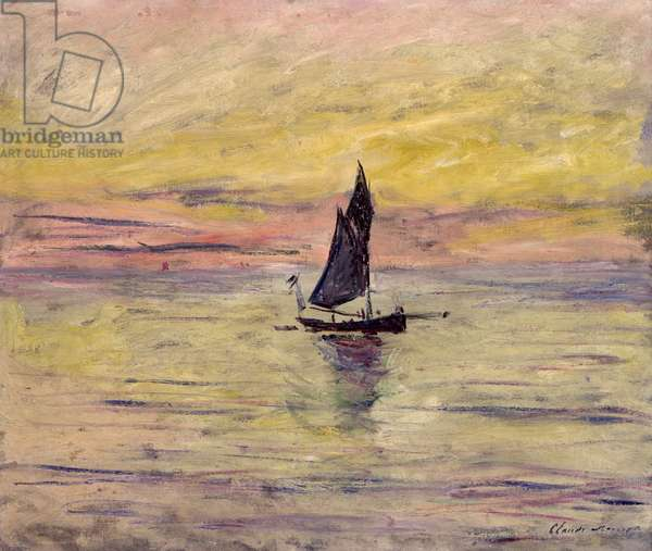 The Sailing Boat, Evening Effect, 1885 (oil on canvas)