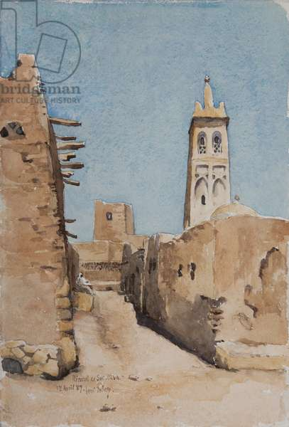 Minaret of Sidi Okba, 18th April 1889 (w/c on paper)