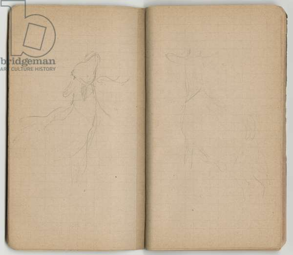 Goats, from a sketchbook, Mezy, 1890-92 (pencil on paper)