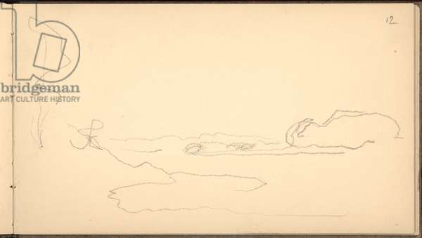 Banks of Lake Daelivannet, 1895 (pencil on paper)