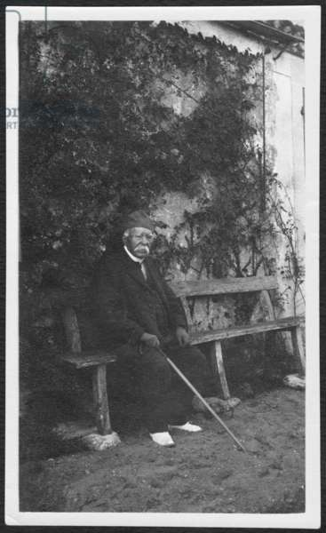 Georges Clemenceau in Vendee, 1928 (b/w photo)