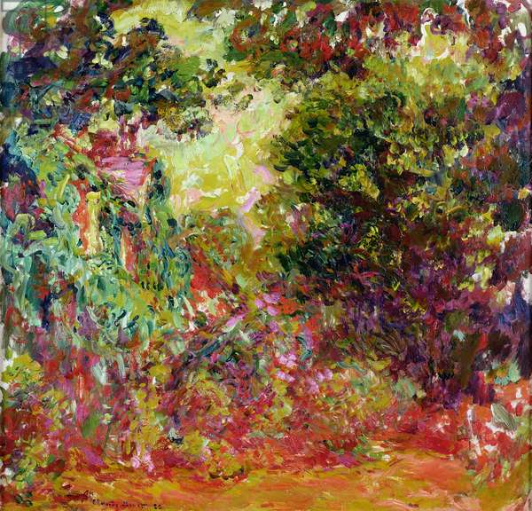 The Artist's House from the Rose Garden, 1922-24 (oil on canvas)