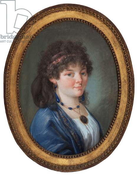 Portrait of a young woman (pastel on board)