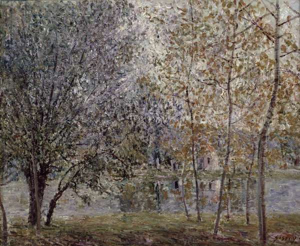 The Loing Canal in Spring, 1892 (oil on canvas)