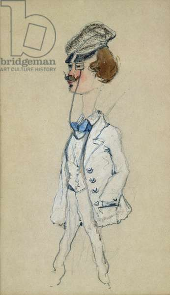 Young Man with a Monocle, 1857 (pastel & w/c on paper)