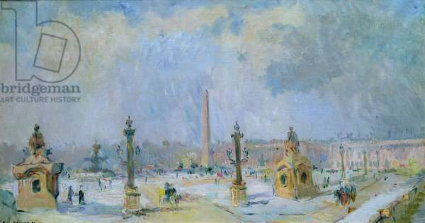 The Place de la Concorde, Paris (oil on canvas)