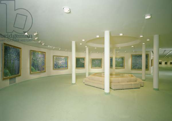 Interior of the Musee Marmottan Monet, Paris, with paintings by Claude Monet (1840-1926) (photo)