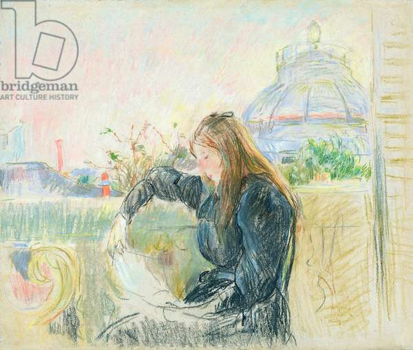 On the Balcony, 1893 (pastel on paper)