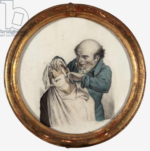 Skilful barber, 1823 (pencil on paper)