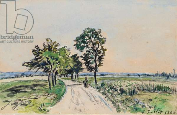 The Cote St. Andre to Grand Lemps Road, 1880 (w/c on paper)