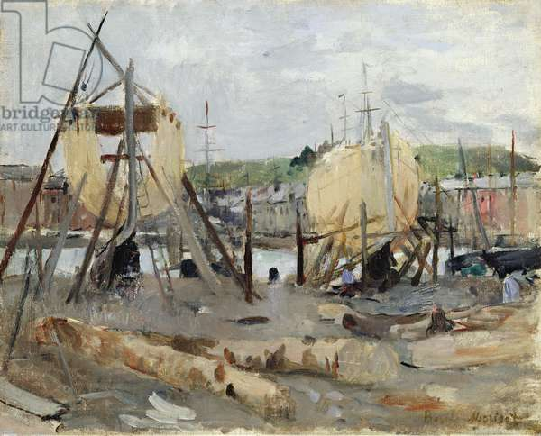 Boat building, 1874 (oil on canvas)