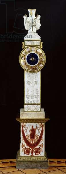 Geographic clock, Sevres Workshop, 1813-21 (carved porcelain & bronze)