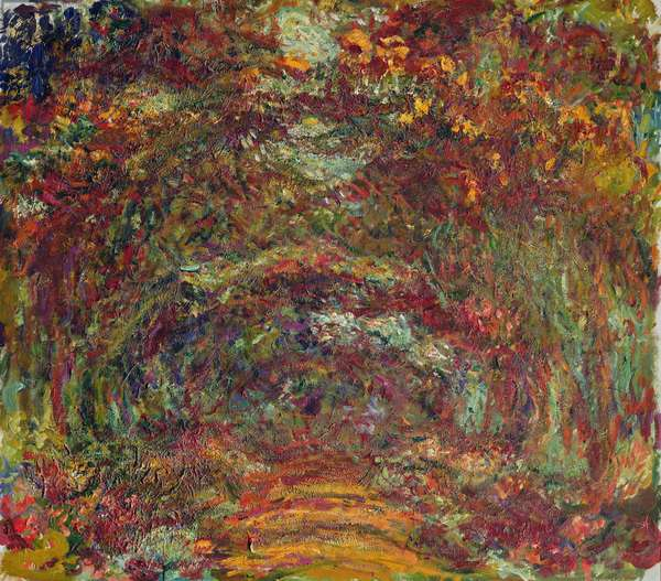 The Rose Path, Giverny, 1920-22 (oil on canvas)