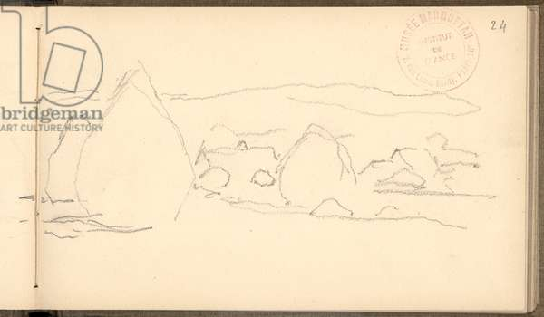 Haystacks at Giverny (pencil on paper)