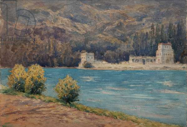 Talloires when visiting Albert Besnard (w/c on paper)