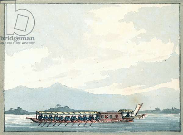 Chinese Man of War boat, 1809 (w/c)