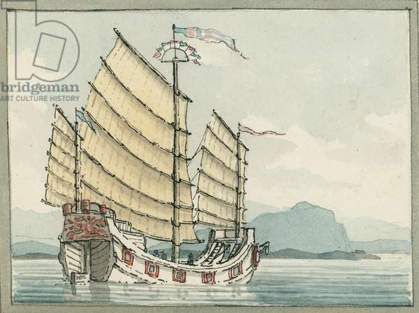 The Chinese Junk, 1809 (w/c)
