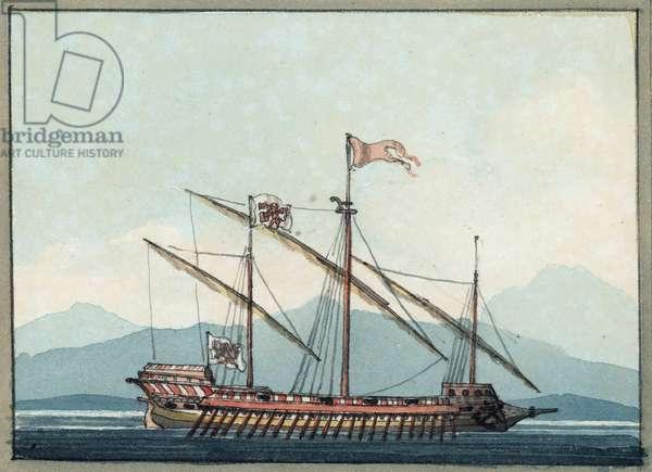 Venetian Galley, 1809 (w/c)