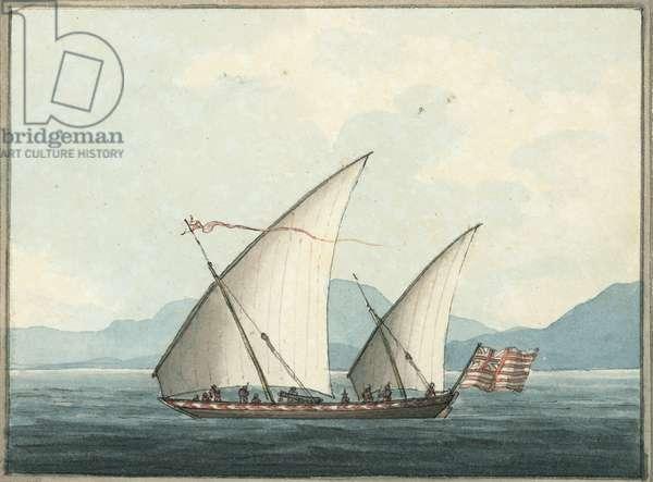 The Armed Pattamar, 1809 (w/c)