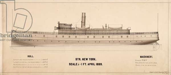 New York (Steamship: 1889) plans, 1894 (architectural drawing)
