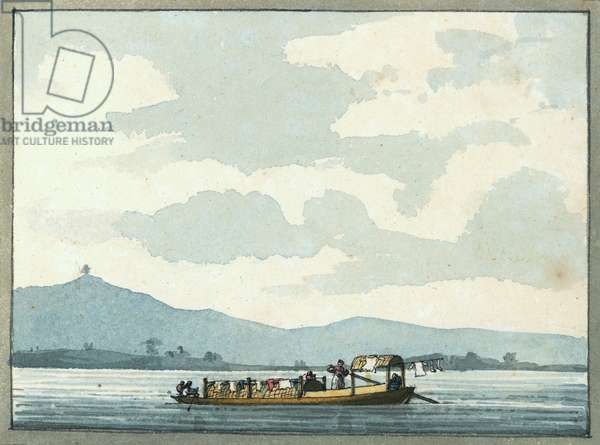Chinese river boat, 1809 (w/c)