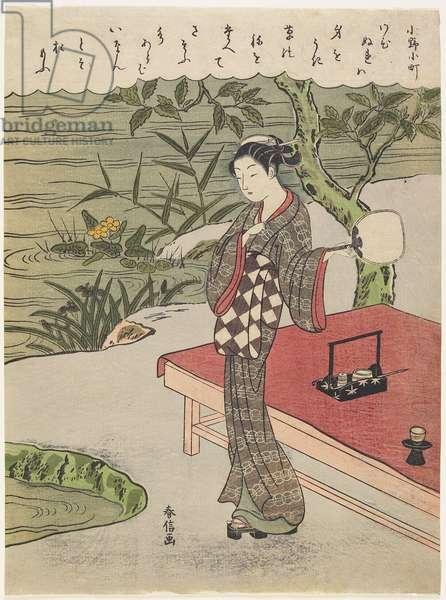 """""""Ono no Komachi"""", c. 1767"""
