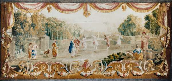 Dance in a Park, Aubusson Tapestry Workshop, c.1782 (wool & silk)