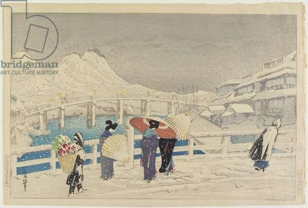 Great Bridge at Matsue, 1924