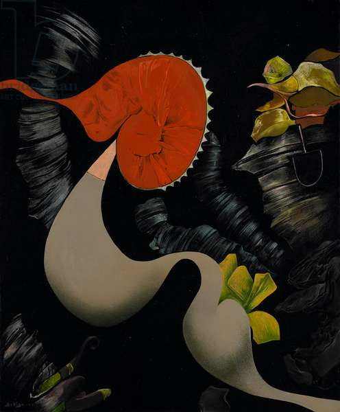 Slow Motion, 1955 (oil on canvas)