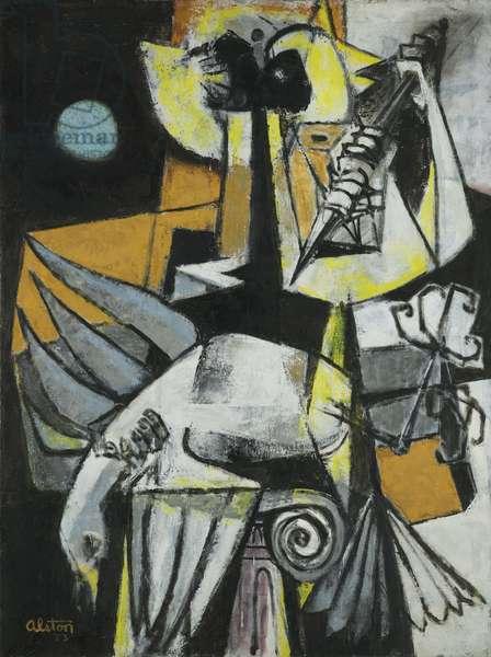 Symbol, 1953 (oil on canvas)