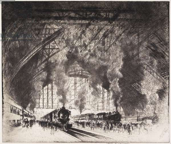 The Trains that Come, and the Trains that Go, Pennsylvania Railroad, Philadelphia, 1919