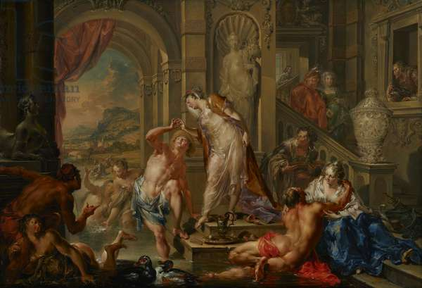 The Pleasures of the Seasons: Summer, c.1730 (oil on copper)