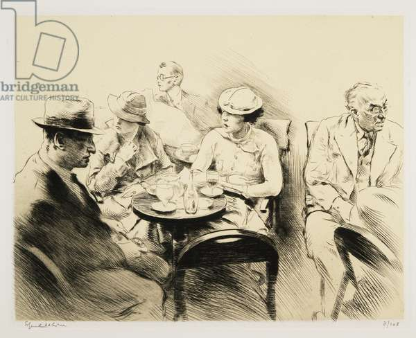 At the Cafe, 1939