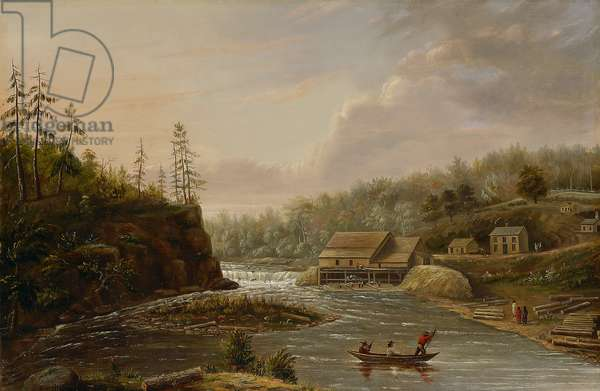 Cheever's Mill on the St. Croix River, 1847 (oil on canvas)