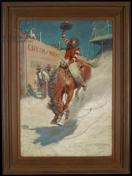 Bronco Buster, 1906 (oil on canvas)