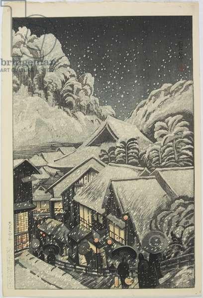 Yu_fuku Hot Spring in Iwami, 1925