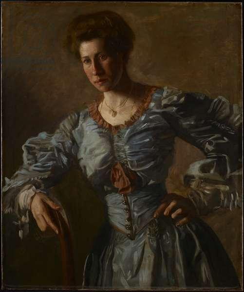 Portrait of Elizabeth L. Burton, c.1905-06 (oil on canvas)