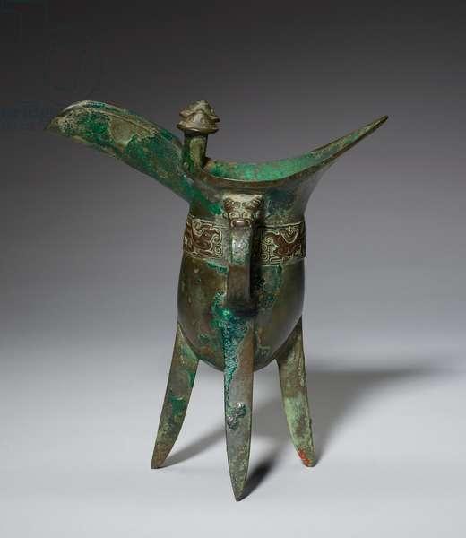 Jue libation vessel, 11th century BCE (bronze)