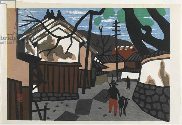 Untitled (Street with White Wall Houses), late 20th century