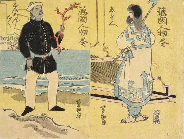 Ainu(right), Malayan(left)