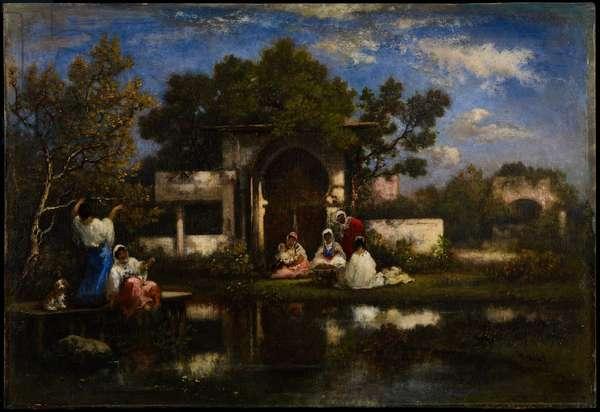 Seraglio, Constantinople, 1865-75 (oil on panel)