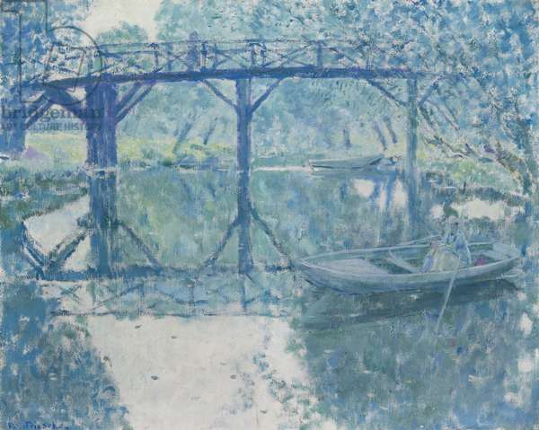 The Bridge - Giverny (oil on canvas)