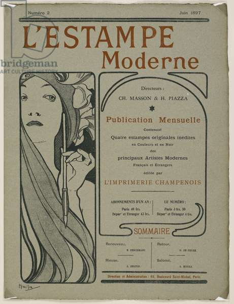Cover page: Cover page from L'Estampe moderne, June 1897 (colour litho)