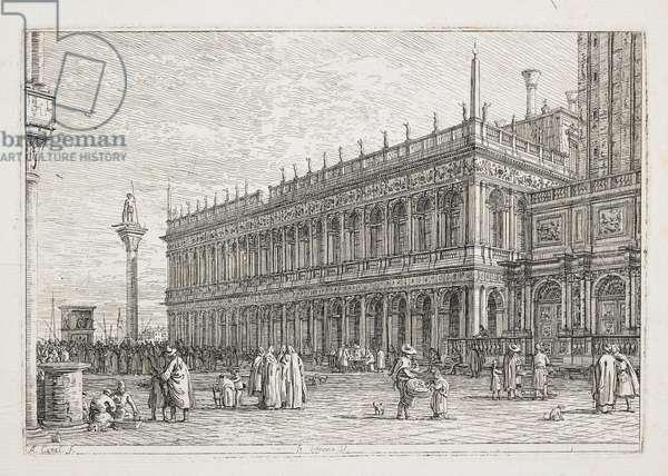 """La Libreria, plate from """"Vedute, altre presse da i loughi, altre ideate"""", 1740-1745"""