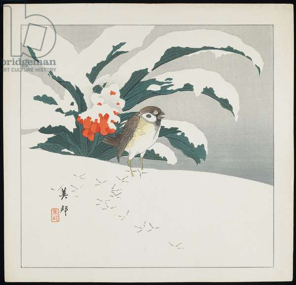 Bird in Snow, early 20th century