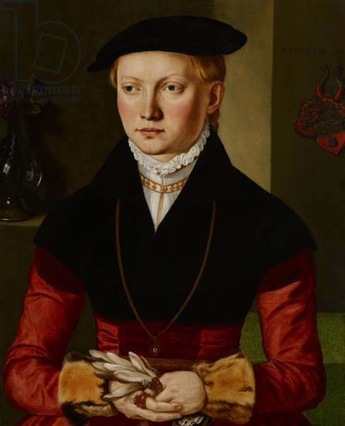 Portrait of a Girl, c.1545 (oil on canvas)
